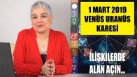 1 Mart'ta Venüs Uranüs Karesi