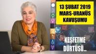 13 Şubat Mars Uranüs Kavuşumu