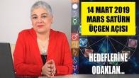 14 Mart'ta Mars Satürn Üçgen Açısı