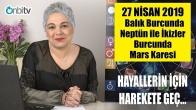 27 Nisan'da Balık Burcunda Neptün ile İkizler Burcunda Mars Karesi